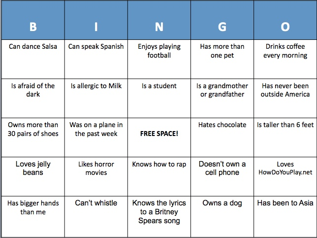 People Bingo